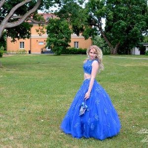 2-osainen sininen tanssimekko