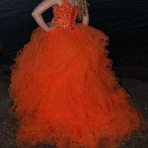 Vanhojentanssimekko, oranssi