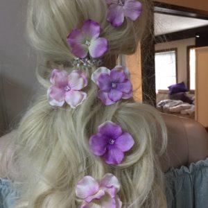Kukkapinnit lila