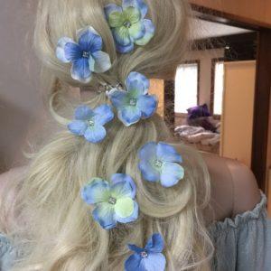 Siniset hiuskukkapinnit,  BLUE